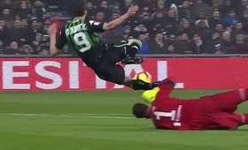 Interwencja Szczęsnego w meczu z Sassuolo