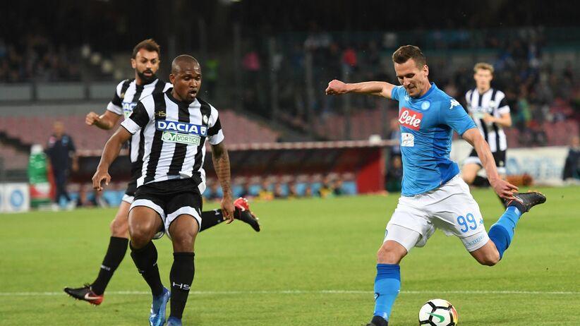 Arkadiusz Milik w meczu z Udinese