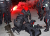 walki kibiców w Bilbao