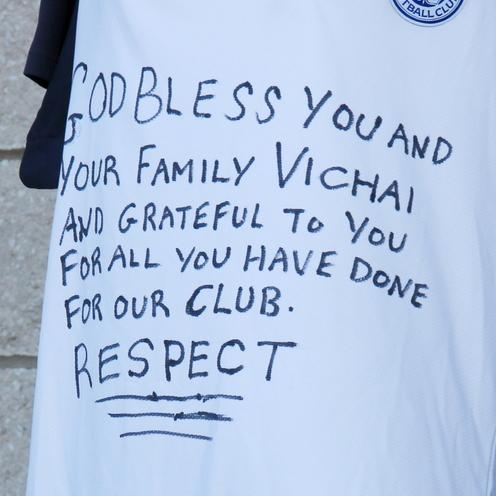 Kibice Leicester żegnają zmarłego właściciela klubu (2)
