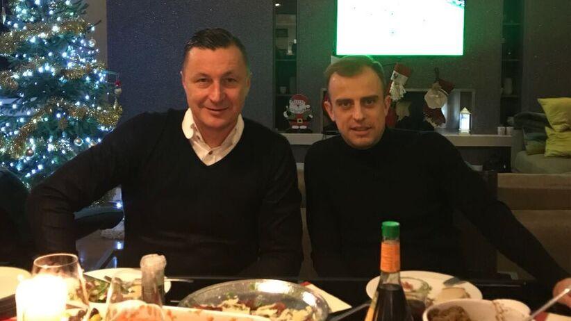 Kamil Grosicki i Tomasz Hajto