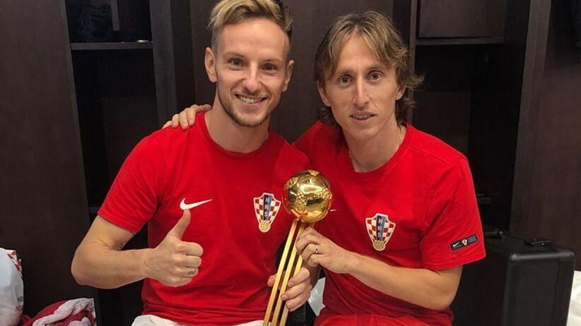 Luka Modrić i Ivan Rakitić wymienili się koszulkami po finale MŚ