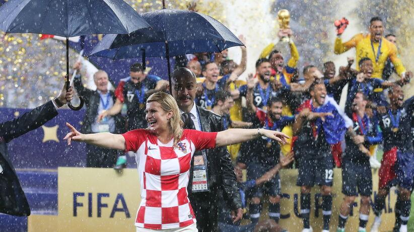 Kolinda Grabar-Kitarović podczas finału MŚ 2018