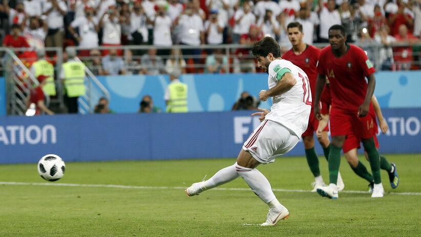 Karny w meczu Iran - Portugalia