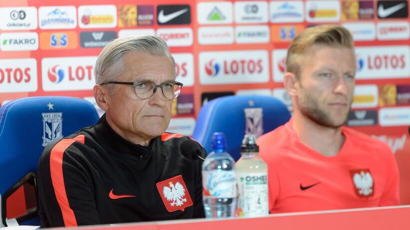 Adam Nawalka i Jakub Błaszczykowski na konferencji przed meczem Polska - Chile