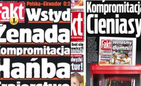 Polska - Kolumbia. Okładka Faktu
