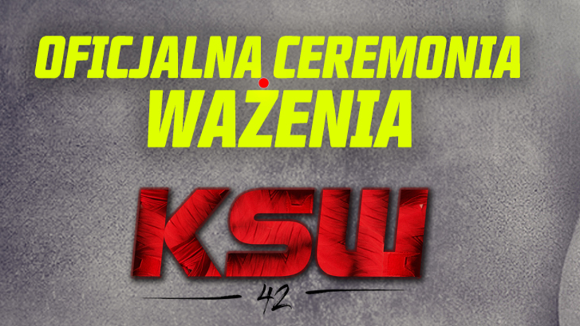 ceremonia ważenia KSW 42