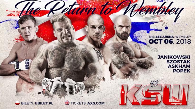 KSW 45: walki, karta walk - kto walczy na gali KSW 45 w Londynie?
