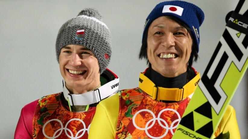 Kamil Stoch i Noriaki Kasai