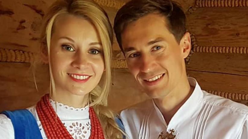 Kamil Stoch z żoną Ewą