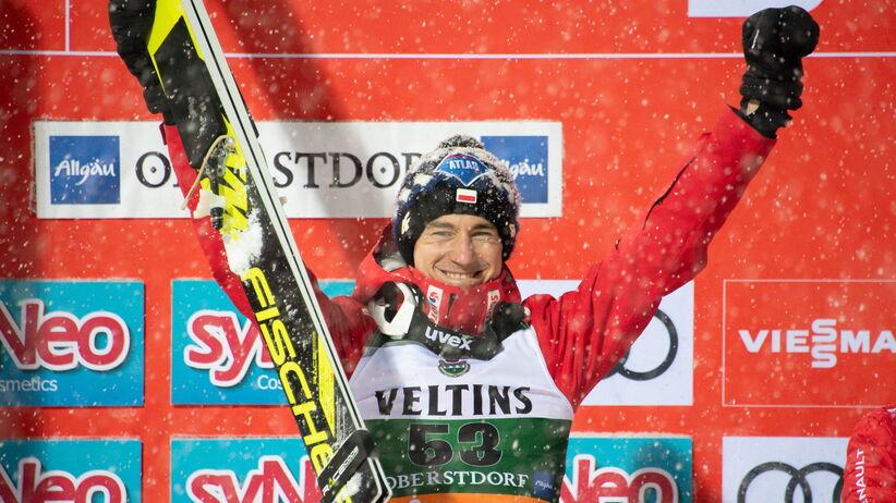 Kamil Stoch zadedykował zwycięstwo w Oberstdorfie żonie Ewie