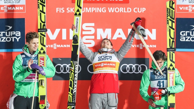 Andreas Wellinger, Kamil Stoch i Richard Freitag