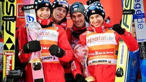 Polacy zdominowali konkurs drużynowy w Willingen. Genialne skoki biało-czerwonych