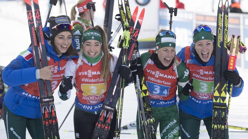 Włoskie biathlonistki wygrały sztafetę w Hochfilzen