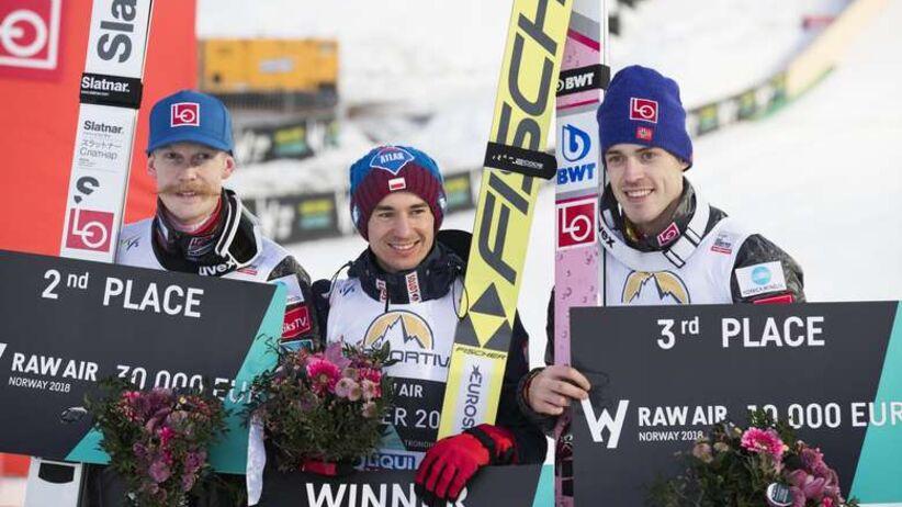 Kamil Stoch, Robert Johansson i Andreas Stjernen