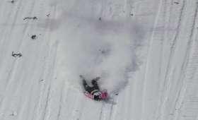 Upadek Tomasa Vancury na mamucie w Oberstdorfie