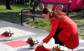 Agnieszka Radwańska na otwarciu Alei Gwiazd Tenisa