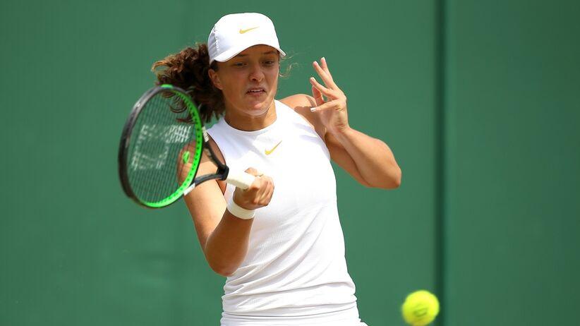 Iga Świątek w finale juniorskiego Wimbledonu