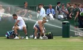 Awaria zraszaczy na Wimbledonie