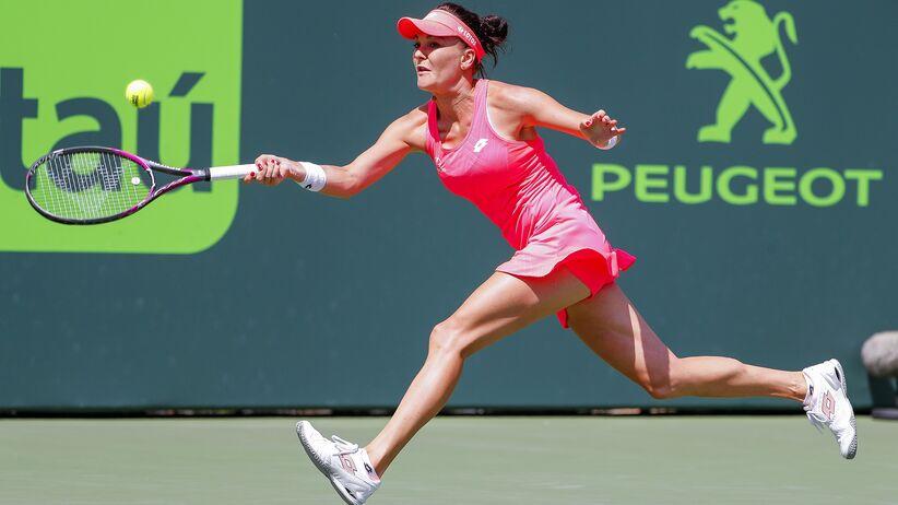 Agnieszka Radwańska w turnieju w Miami