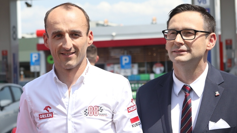 Robert Kubica i Daniel Obajtek
