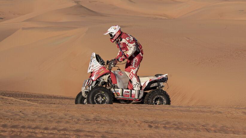 Rafał Sonik na podium Rajdu Dakar 2020