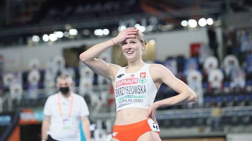 Pia Skrzyszowska w finale 60 m ppł
