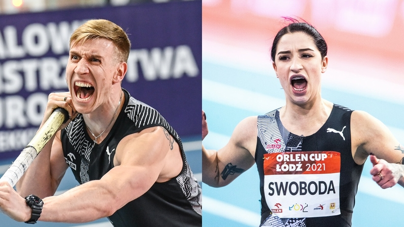 Piotr Lisek i Ewa Swoboda