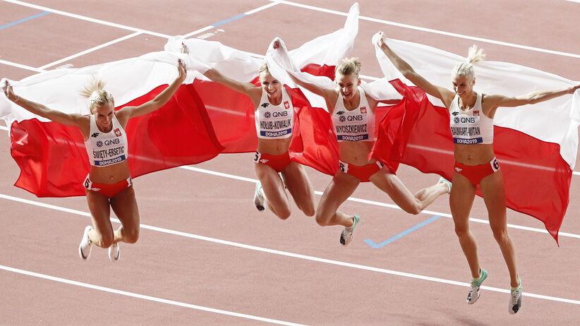 Sztafeta 4x400 m ze srebrnym medalem MŚ w Doha