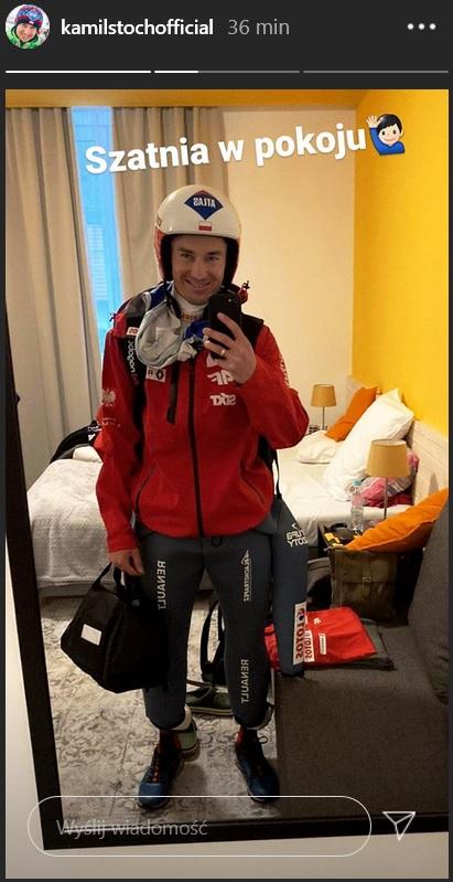 Kamil Stoch ma szatnię w pokoju