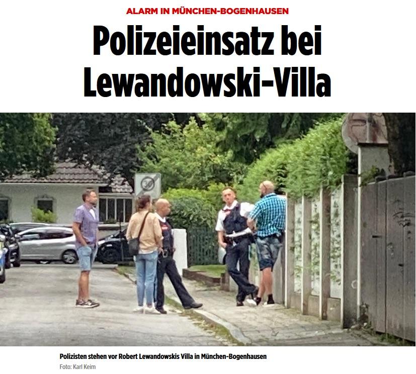 Policja pod domem Lewandowskiego