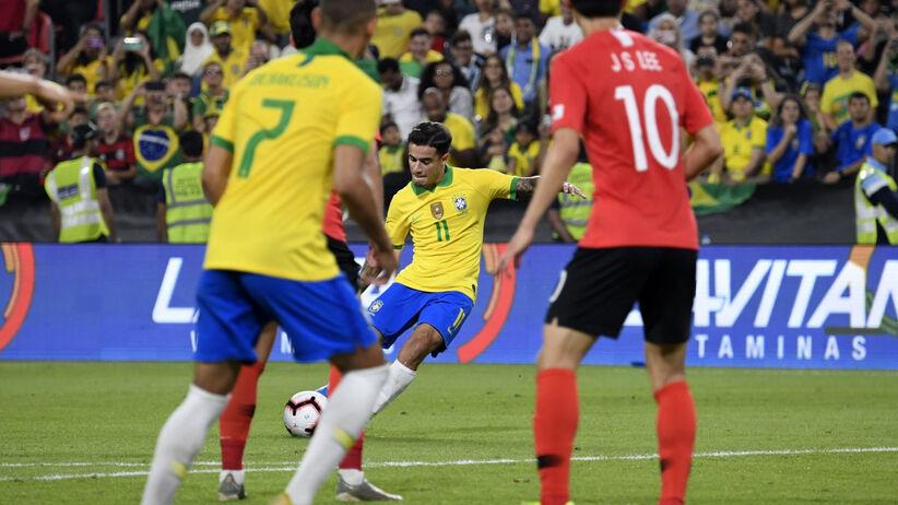 Mecze towarzyskie: Brazylia wreszcie zwycięska. Cudowny gol Coutinho [WIDEO]