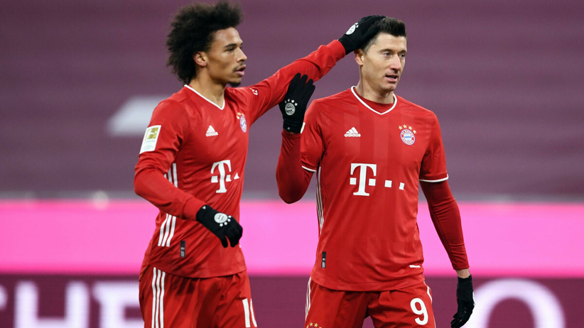 Robert Lewandowski i Sane