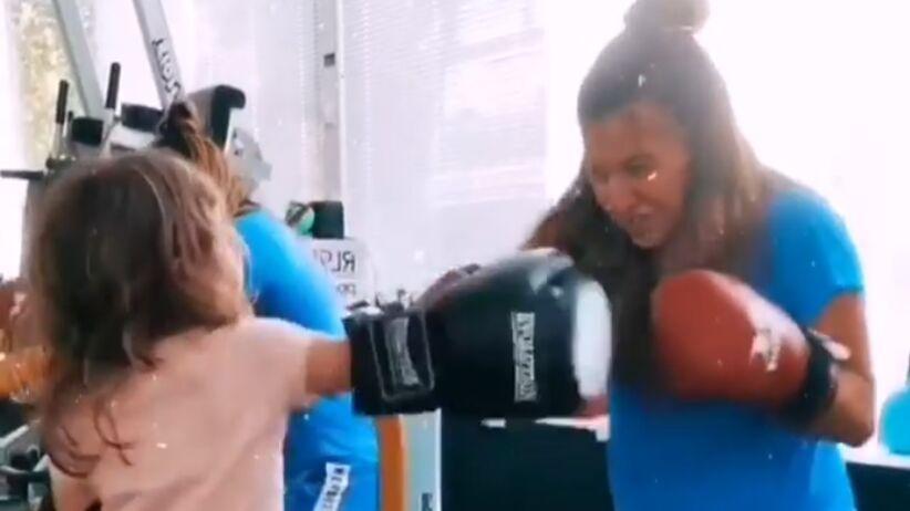 Klara Lewandowska trenuje boks