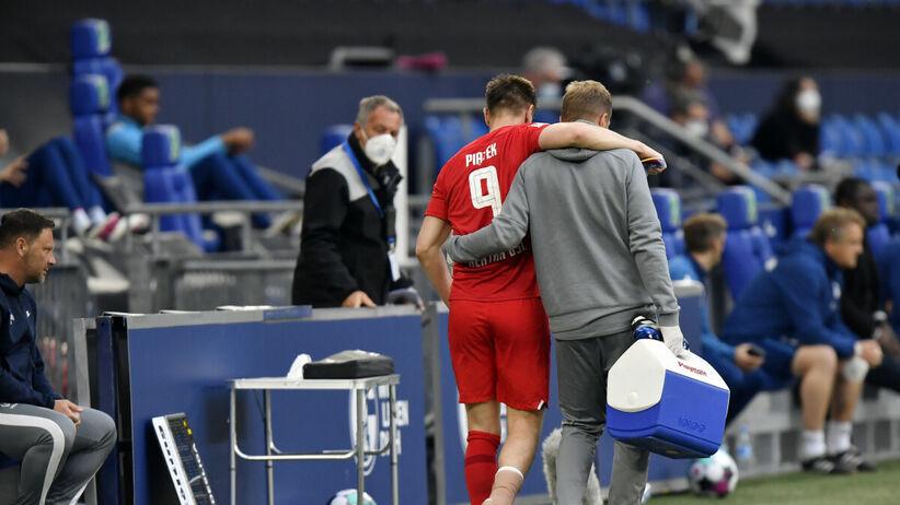 """Krzysztof Piątek kontuzjowany. Trener Herthy: """"jego kostka wygląda do d**y"""""""