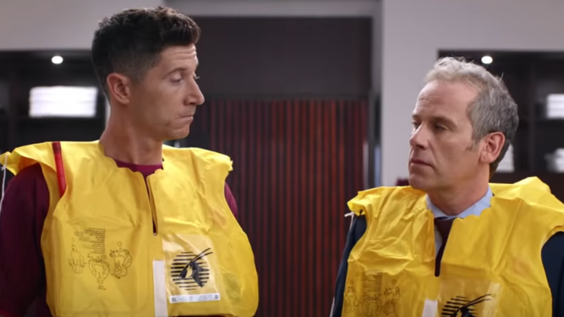 Lewandowski w reklamie Qatar Airways