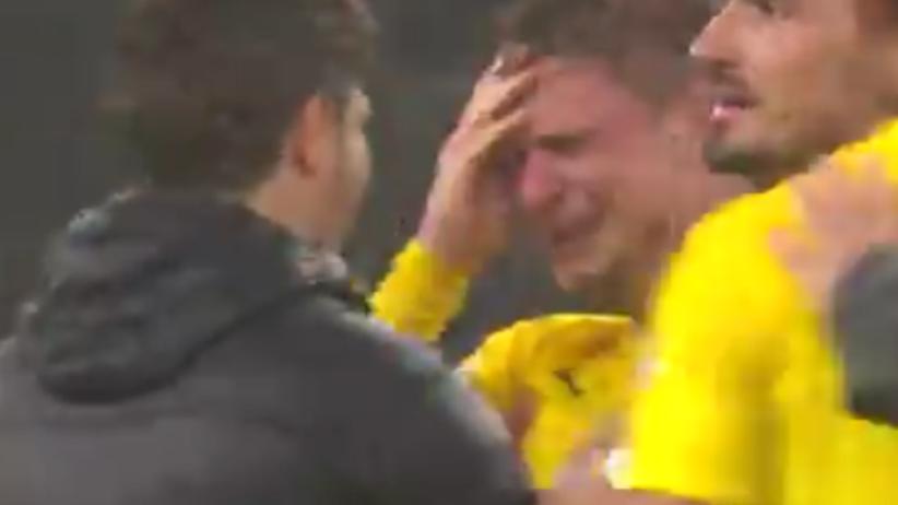 Łukasz Piszczek nie mógł powstrzymać łez po finale Pucharu Niemiec [WIDEO]