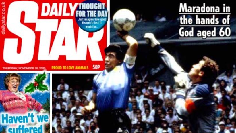 Maradona - okładka Daily Star