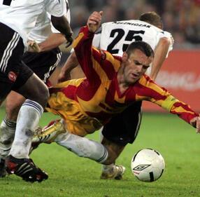 DAREK REDOS/REPORTER/East News#Grzegorz Piechna#Grzegorz Piechna podczas meczu Korona-Legia, 29.4.2006|