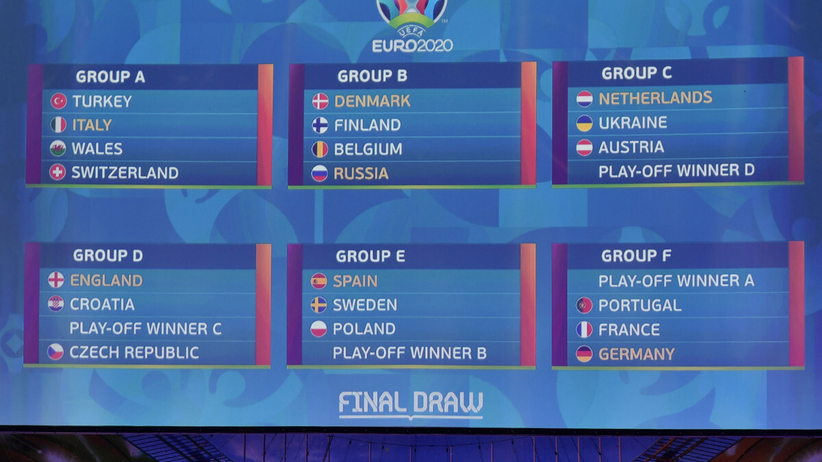 Euro 2021: TERMINARZ mistrzostw Europy. Kalendarz meczów wszystkich grup Euro