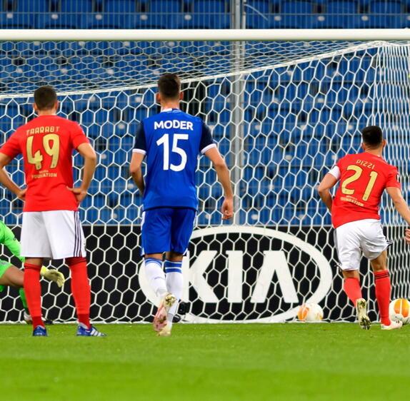Lech - Benfica: Goście po raz trzeci wychodzą na prowadzenie