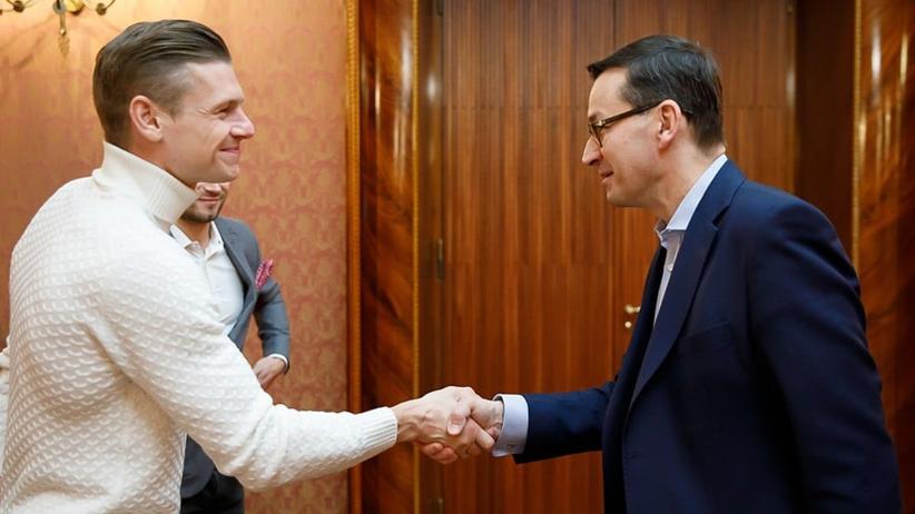 Łukasz Piszczek u premiera Morawieckiego