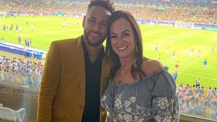 Neymar z mamą Nadine Goncalves