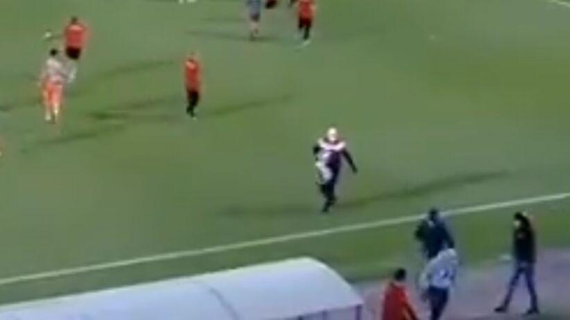 Atak kiboli w meczu Olympiakos - Bayern