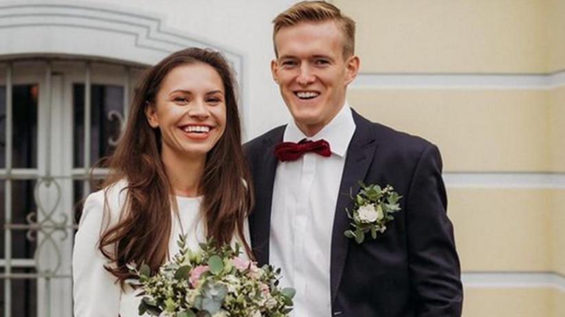 Karol Świderski z żoną