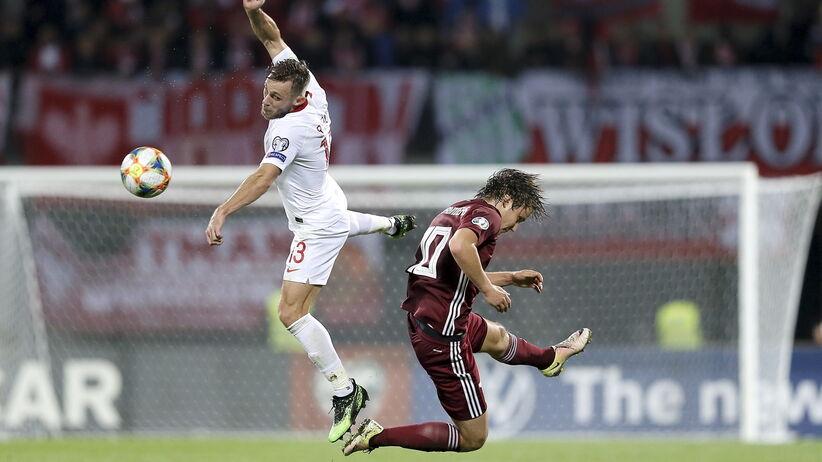 Maciej Rybus walczył z bólem podczas meczu Łotwa - Polska