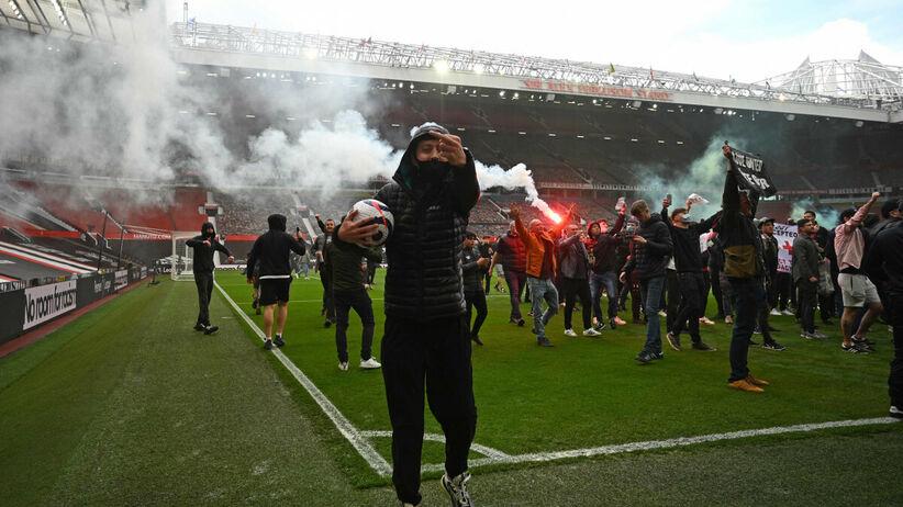 Protest kibiców Manchesteru United