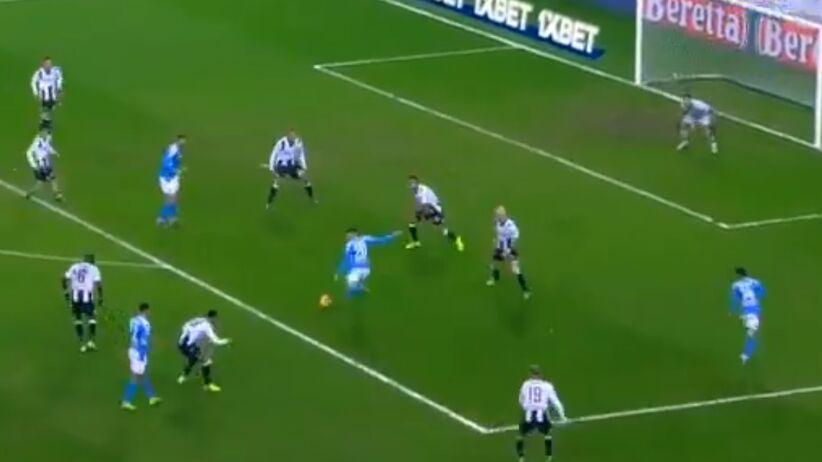 Gol Piotra Zielińskiego w meczu Udinese - Napoli