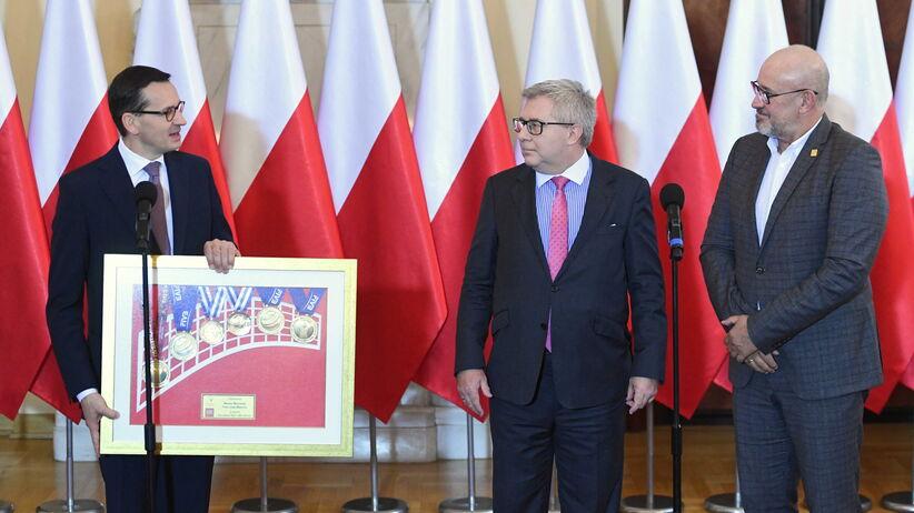 Premier Morawiecki spotkał się z działacami PZPS-u
