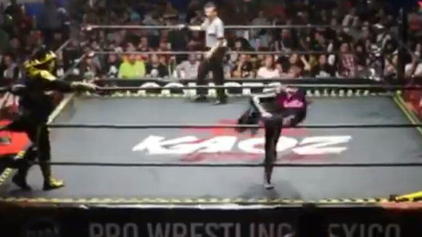 Wrestler złamał kręgosłup